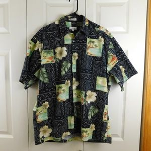 Pierre Cardin Tropical Geometric Large Mens Shirt